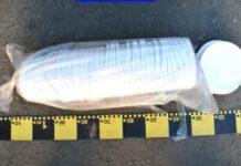 """Captură """"impresionantă"""" a poliției. 18 kilograme de tutun și multe...găleți goale. Foto/Poliția Română"""